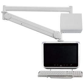Monitor Arm - Long Reach w/ Keyboard Holder MW-M25WBKN