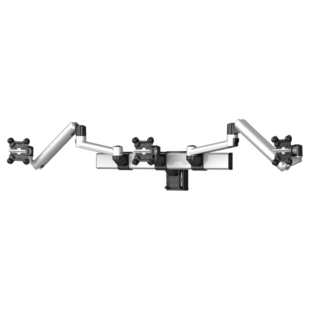 "Triple VESA Mount for Slatwall Quick Release up to 35"" Monitors"