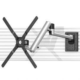 TV Slatwall Mount - Full Motion w/ Quick Release & Rotation