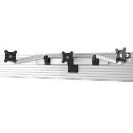 "Triple VESA Mount for Slatwall Quick Release up to 32"" Monitors"